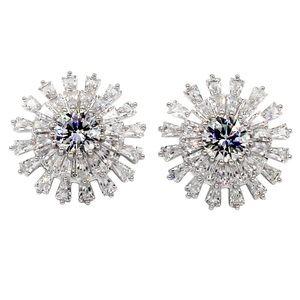 Shining crystal layer earrings